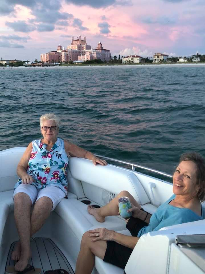 Fay and Barb enjoying some nice time in the Gulf